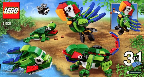 LEGO Creator 31031 Rainforest Animals box03