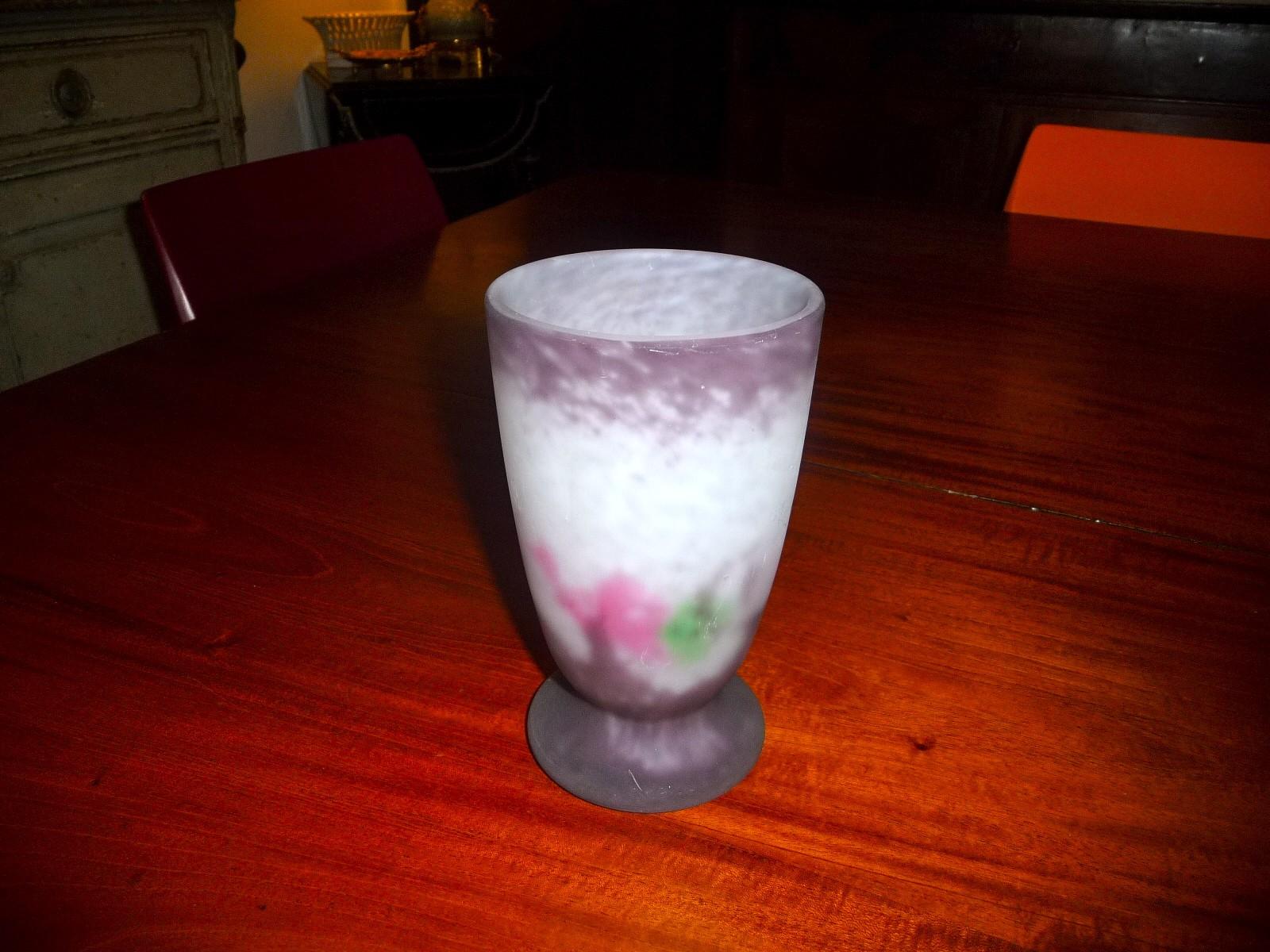 mueller freres luneville vase en p 226 te de verre ebay