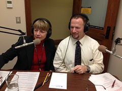 Rep. Norma Smith and Rep. Dave Hayes during telephone town hall meeting