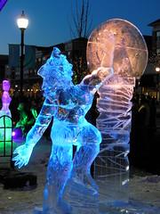 Ice sculptures at Village at Leesburg