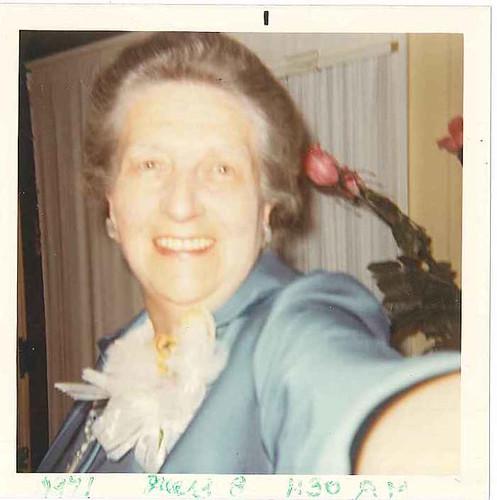1971-Aunt Esther selfie!