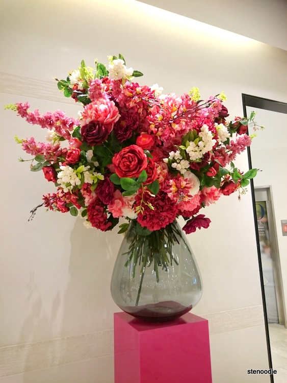 gigantic bouquet of flowers in a glass vase