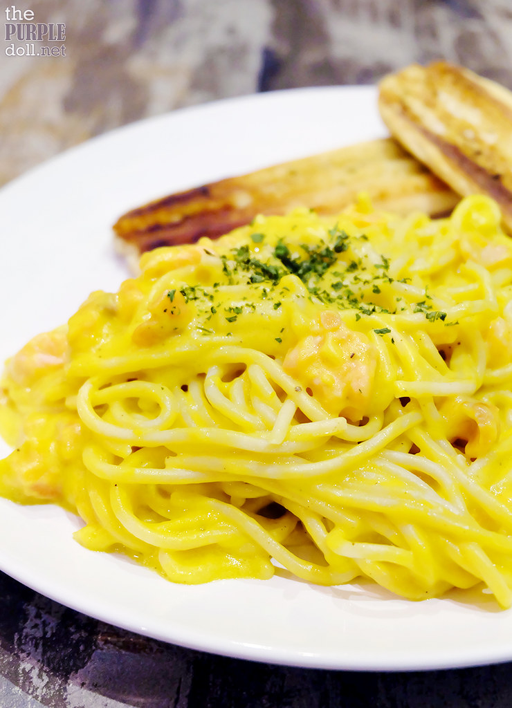 Pumpkin Pasta with Smoked Salmon (P220)