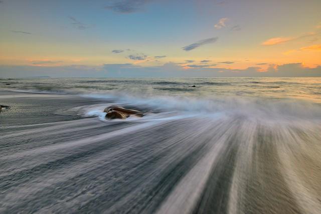 枋山 ~詩情畫意●絲絲入我心~  Silk waves Sunset