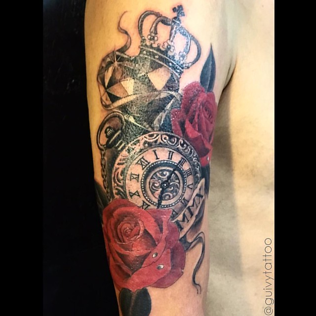 Flickr guivy - Montre a gousset tattoo ...