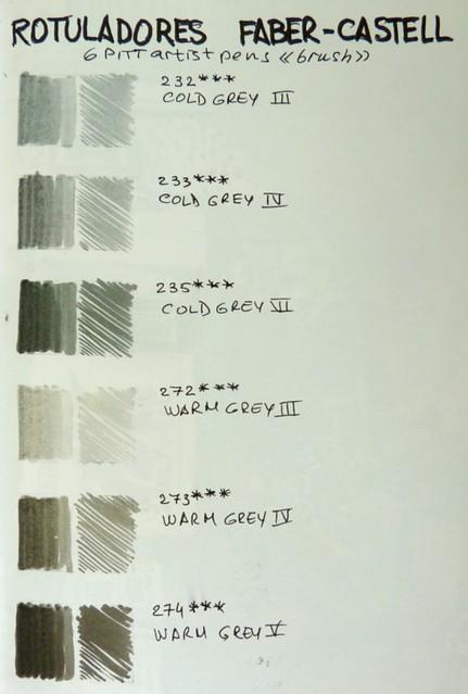 Seis tonos de gris
