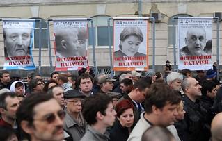 【高清组图】俄罗斯数万反对派集会抗议普京