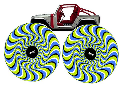 Jeep Wrangler Pork Chop Optical Illusion by lee.ekstrom