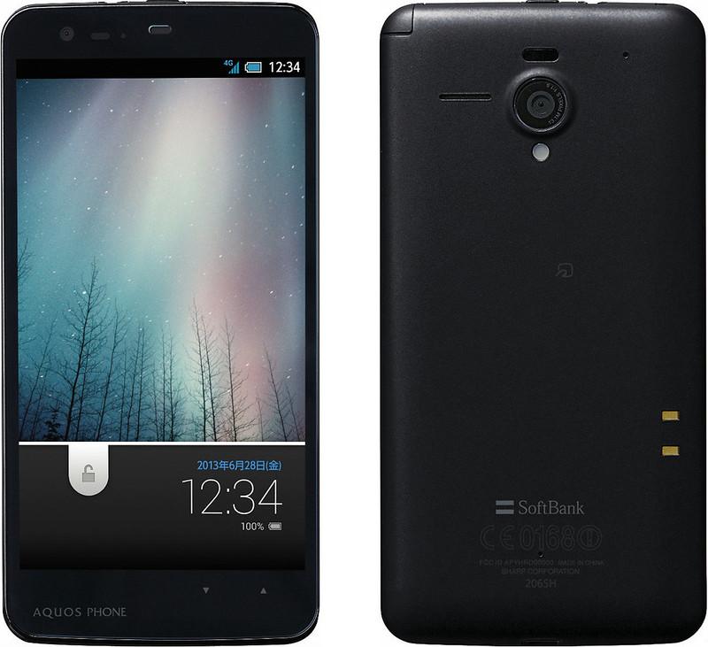 AQUOS PHONE Xx 206SH 実物大の製品画像