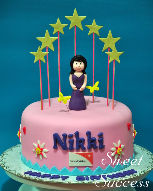 Born to be a Star Cake - Nikki Gil Birthday Cake from ...