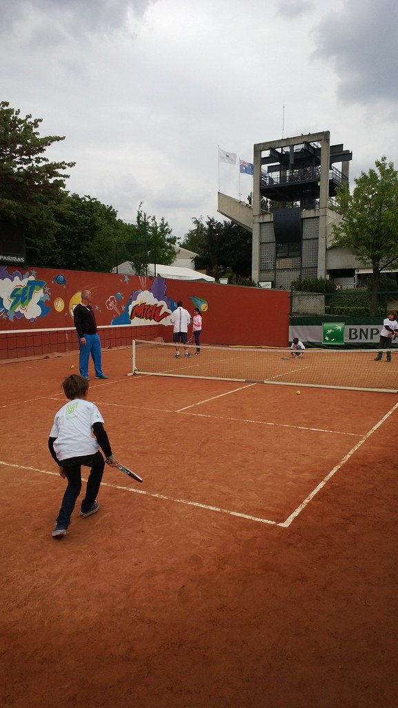 Mini tennis at Roland Garros