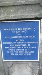 Photo of Cyril Northcote Parkinson blue plaque