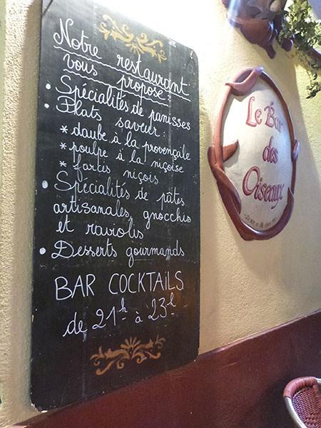 menu bar des oiseaux