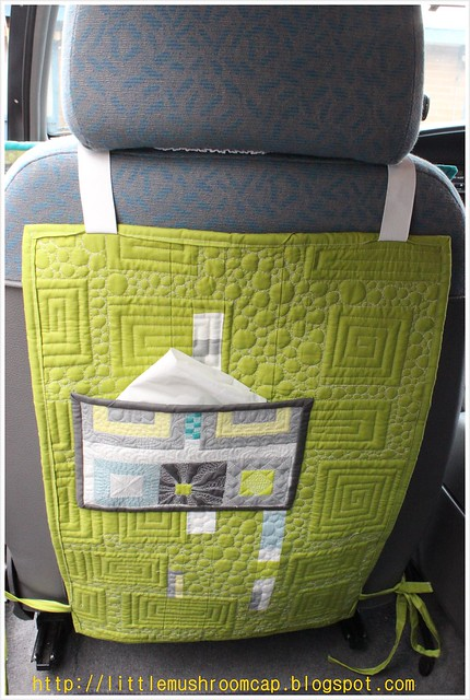 Make It Right Challenge- Car Seat Pad_Angela Walter Panel- reversible- back pocket