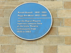 Photo of Ronald Russell and Peggy Ann Wood blue plaque