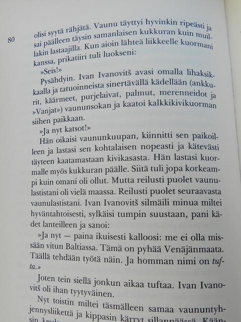 Reading a Finnish translation of an Estonian book