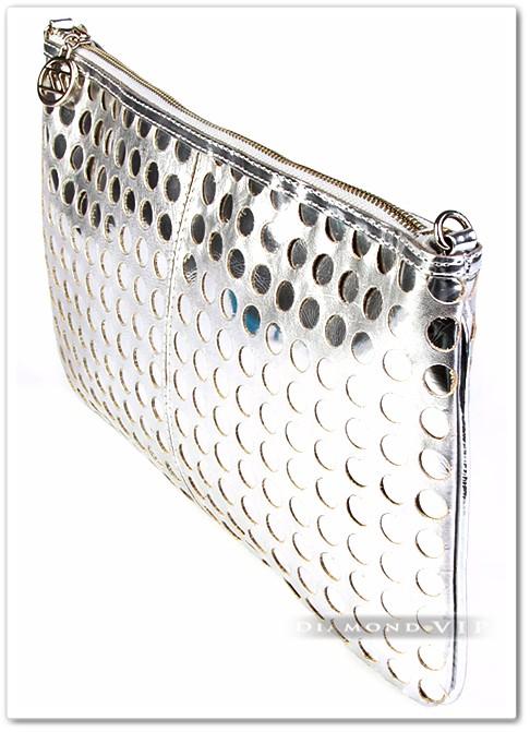 Bolsa De Couro Legitimo Arezzo : Bolsa arezzo couro leg?timo prata clutch m?o al?a original