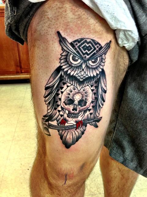 Full Calf Tattoo Designs