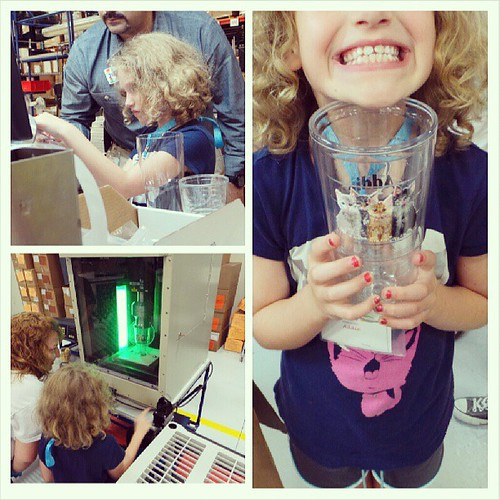 Addie made her very own custom Tervis Tumbler (with cats) at their Sarasota factory.