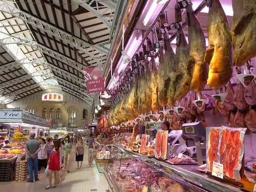 Valencia market ham