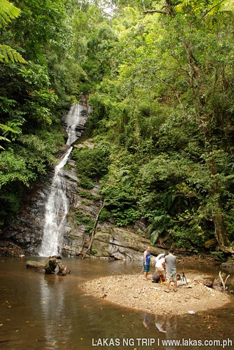 New Rizal Falls when the wooden barrier of the concrete dam was uninstalled in Dumarao, Roxas, Palawan