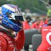 Scott Dixon prepares for practice to begin at Mid-Ohio