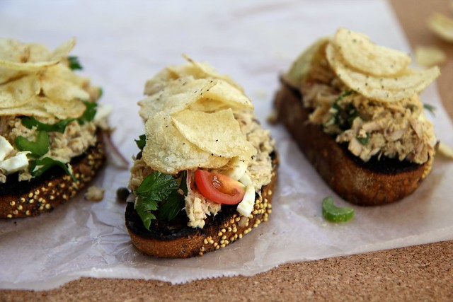 Olive Oil Tuna Toast