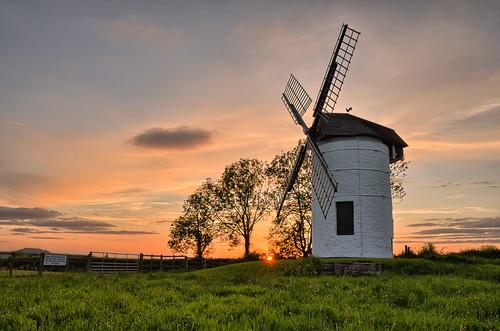 Setting Sun over Ashton Mill