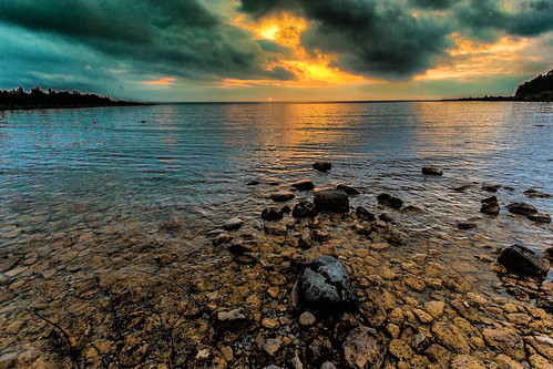 sunset day unitedstates cloudy michigan mackinawcity