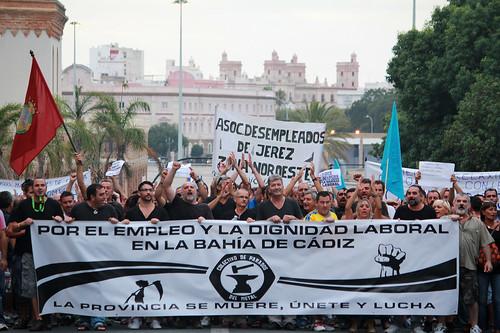 Manifestación Empleo Cádiz