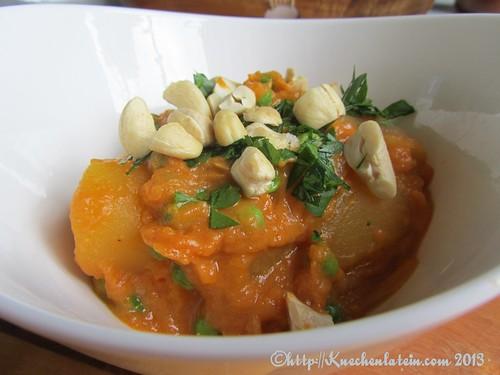©Erbsen und Kartoffeln in roter Curry-Sauce (2)