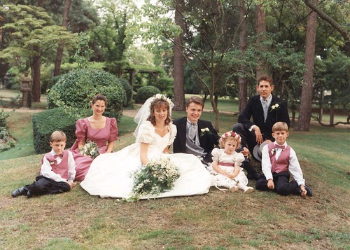 Wedding Group - Young Lisa and Gareth - Early 90's