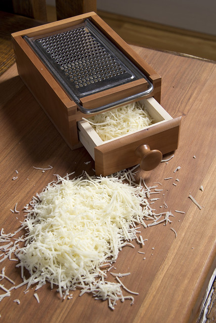 shredded cheese and grater spectral analysis