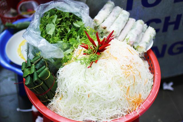 Food markets in Hanoi Vietnam