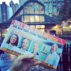 Feels great to be back out in Verdi Sq supporting @deBlasioNYC @Scottmstringer #galeabrewer #tishjames #uws #smallbiz #imbaaaack!