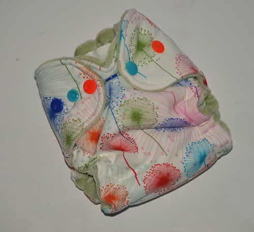 Bumstoppers Newborn Hybrid  Fitted Rainbow Dandies