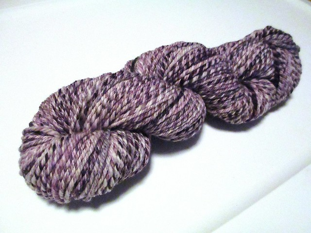 Purple 3-ply handspun