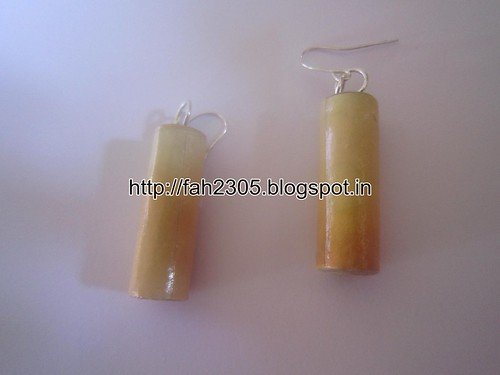 Handmade Jewelry - Rolled Cylinder Paper Earrings (5) by fah2305