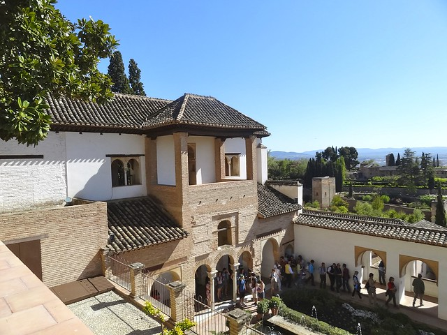 Granada : El Generalife - side south