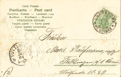 Postkarte Post card Cartolina Postale Fräulein Marie Kurrentschrift alt Geburtstag Geburtstagsgrüße Veilchen Veilchengrüße lila