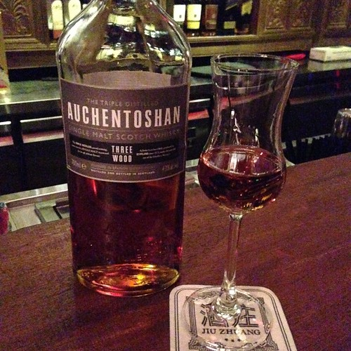 Auchentoshan Three Wood Whisky at Jiu Zhuang - shot with iPhone 5