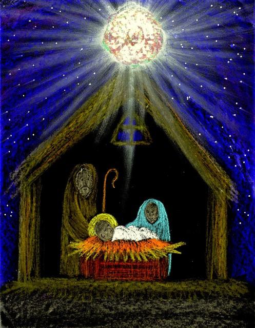 christmas nativity art unto us by stushie stushie art