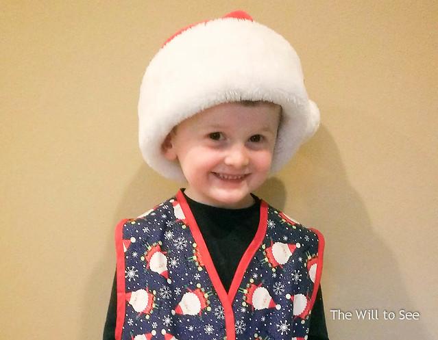 santa hat and vest