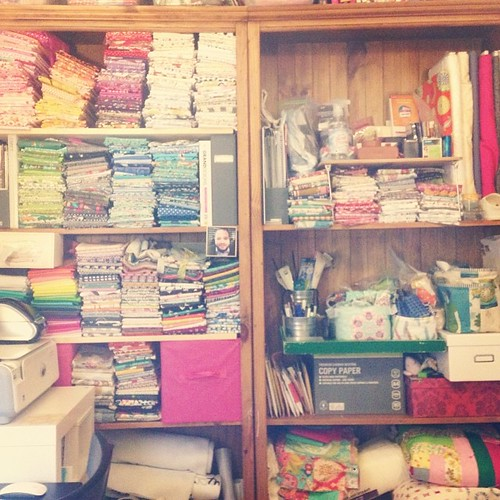 Ahhh. Much better. I love a clean sewing room and a beautifully organized stash!