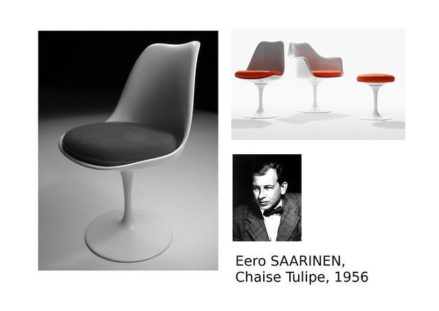 07. SAARINEN Eero, Chaise Tulipe, 1956