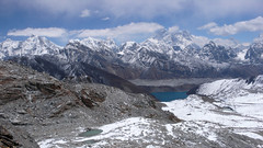 Everest i jez. Gokyo Lake z Rancho Pass 5400m