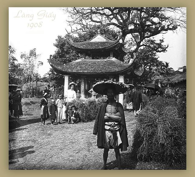 Hà Nội 1908 - Làng Giấy - Village du Papier