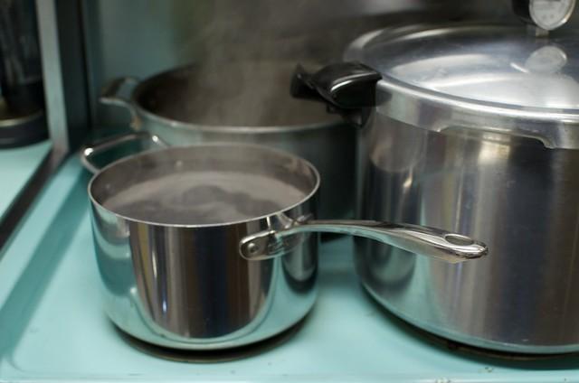 simmering beans