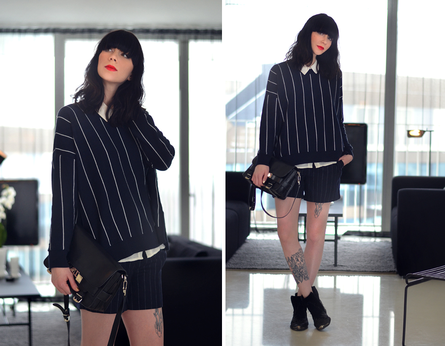 2 ways 2 wear navy stripes mucstyle CATS & DOGS fashion blog Berlin Mango Zara OOTD 7