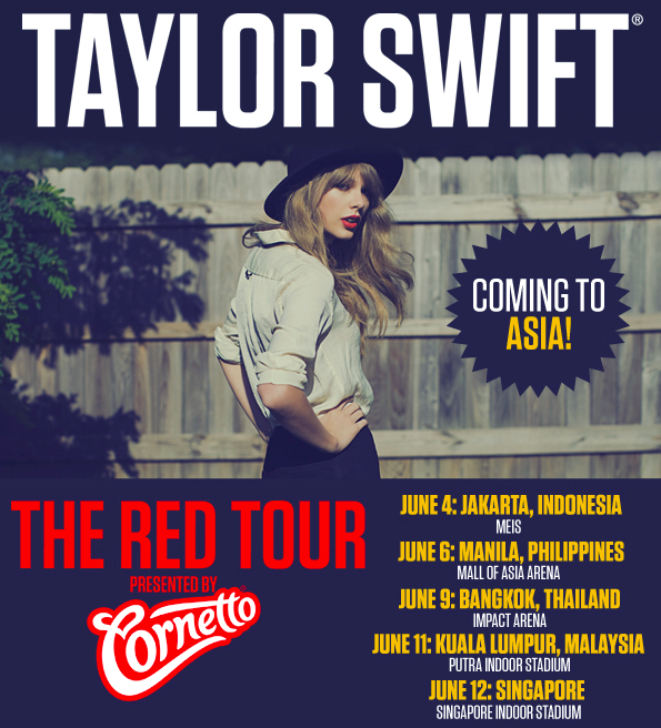 Konsert Taylor Swift Live in Malaysia RED ASEAN TOUR